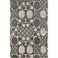 Handmade Soho Deco Stones Grey New Zealand Wool Rug (5' x 8)