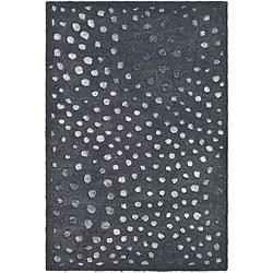 Safavieh Handmade Soho Deco Wave Dark Grey New Zealand Wool Rug (2' x 3)