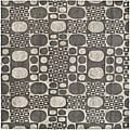 Handmade Soho Deco Stones Gray New Zealand Wool Area Rug (6' Square)