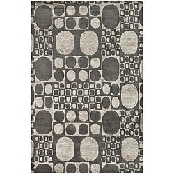 "Safavieh Handmade Soho Deco Stones Grey New Zealand Wool Area Rug (7'6"" x 9'6"")"