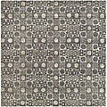 Handmade Soho Deco Stones Grey New Zealand Wool Rug (6' Square)