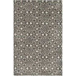 Handmade Soho Deco Stones Grey New Zealand Wool Rug (7'6 x 9'6)