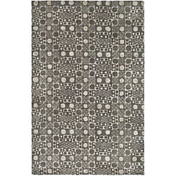 Safavieh Handmade Soho Deco Stones Grey New Zealand Wool Rug (7'6 x 9'6)