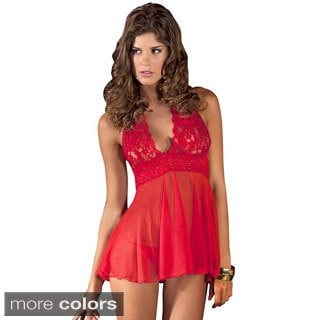 EMAJE' Women's Sexy 2-piece Babydoll Set