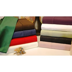 Egyptian Cotton Sateen 300-Thread-Count Machine-Washable Solid Sheet Set