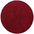 Hand-woven Burgundy Chenille Shag Rug (5' Round)