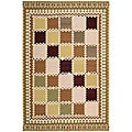 Nourison Hand-woven Dakota Multicolor Wool Rug (5'5 x 7'4)