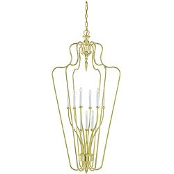 Montauk Polished Brass 9-light Hall Foyer Fixture