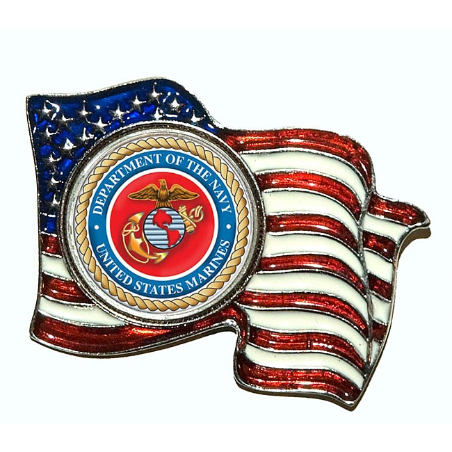 American Coin Treasures Colorized Marines Quarter Flag Pin