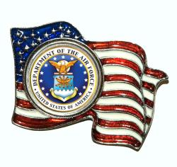 American Coin Treasures Colorized Air Force Quarter Flag Pin