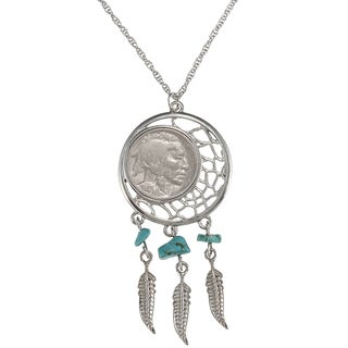 American Coin Treasures Buffalo Nickel Dream Catcher Pendant