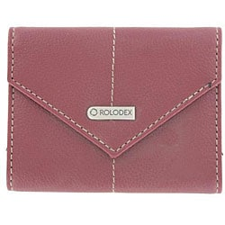 Rolodex Burgundy Personal Business Card Holder with Snap Closure