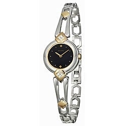 Seiko Women's 'Aria' Two-tone Stainless Steel Diamond Watch