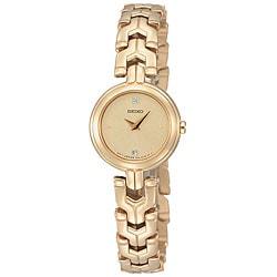 Seiko Women's Diamond Goldtone Watch