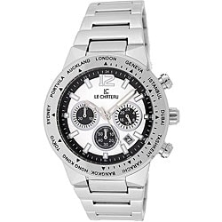 Le Chateau Cautiva Men's White-Dial All-Steel Chronograph Watch