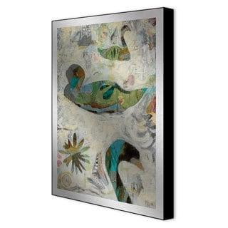 Judy Paul 'Pond II' Framed Art on Metal