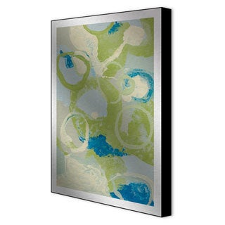 Leslie Saris 'Emerging Impression IV' Framed Metal Art