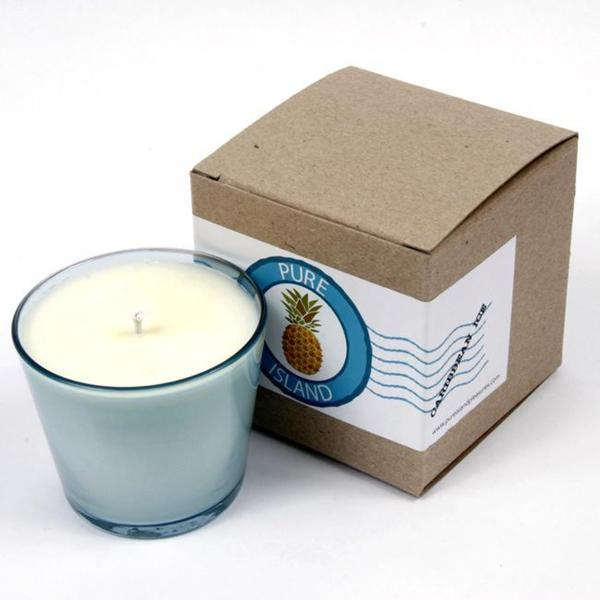 Pure Island Caribbean 'Blue' 8-ounce Candle