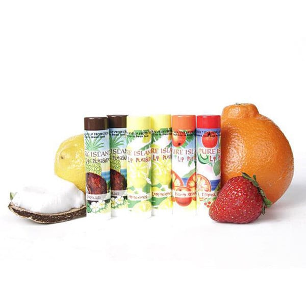 Pure Island Assorted Flavor Lip Balm (Pack of 6)