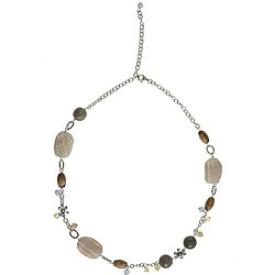 Jasper, Glass Sterling Silver Necklace (Thailand)