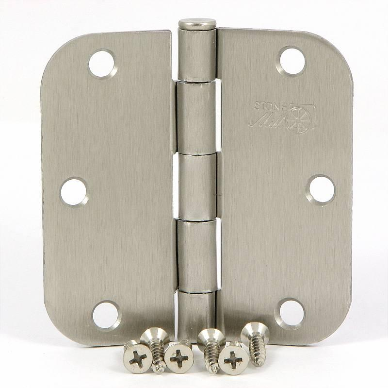 Stone Mill 3.5-inch Satin Nickel Door Hinges (Box of 2)