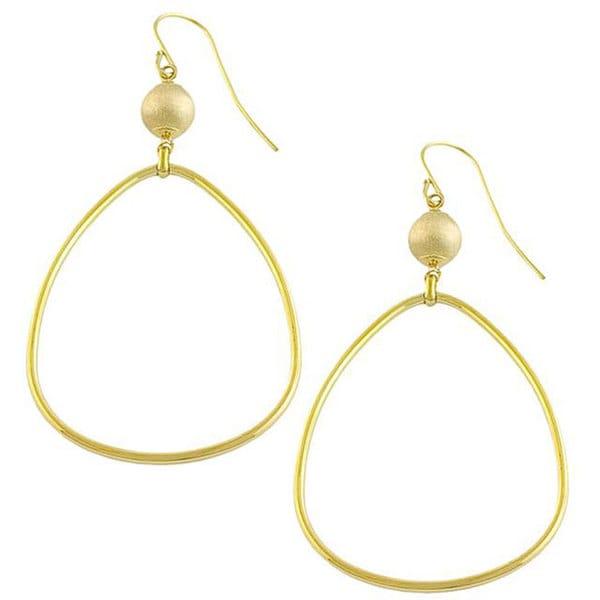Fremada 14k Yellow Gold Bead Drop and Teardrop Earrings