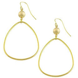 Fremada 14k Yellow Gold Bead Drop and Teardrop Earrings