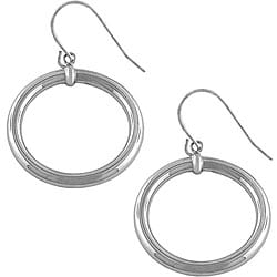 Fremada 14k White Gold Polished Ring Drop Earrings