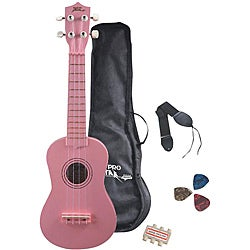 Pyle Pink 22-inch Ukulele Starter Package for Beginners