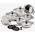 Millerhaus 16-piece 7-layer 18/10 Stainless Steel Cookware Set