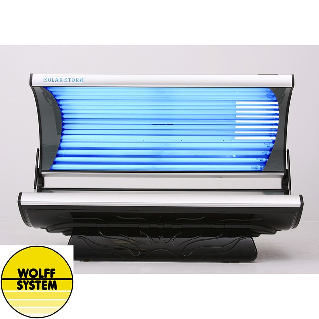 wolff systems solar storm 24s 24 lamp tanning bed with face lamps. Black Bedroom Furniture Sets. Home Design Ideas