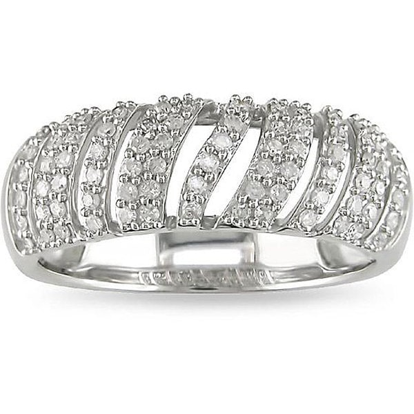 10k White Gold 1/3ct TDW Diamond Ring (H-I, I2-I3)