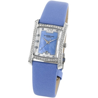 Stuhrling Original Women's 'Gatsby Girl' Blue Dial Crystal Watch