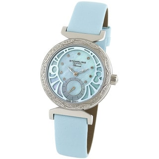 Stuhrling Original Women's 'Soiree' Diamond Blue Strap Watch