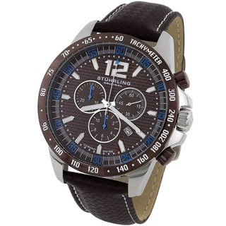 Stuhrling Original Men's 'Concorso' Brown Dial Chronograph Watch
