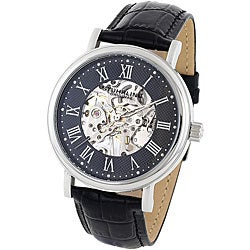 Stuhrling Original Men's 'Montague' Skeleton Mechanical Hand Wind Watch
