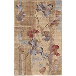 Nourison Rhythm Beige Floral Rug (1'11 x 3'3)