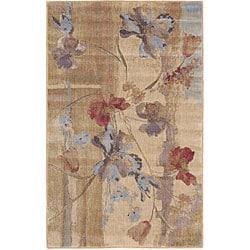 Nourison Rhythm Beige Floral Rug (1'11 x 7'6)