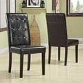 Tufted Chocolate Parsons Chair (Set of 2)