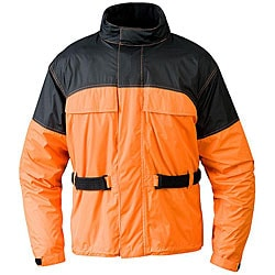 Mossi Men's RX 1 Orange Rain Jacket