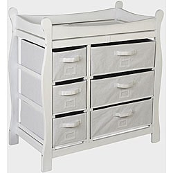 Badger Basket White 6-basket Changing Table