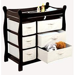 Badger Basket Espresso 6-basket Baby Changing Table