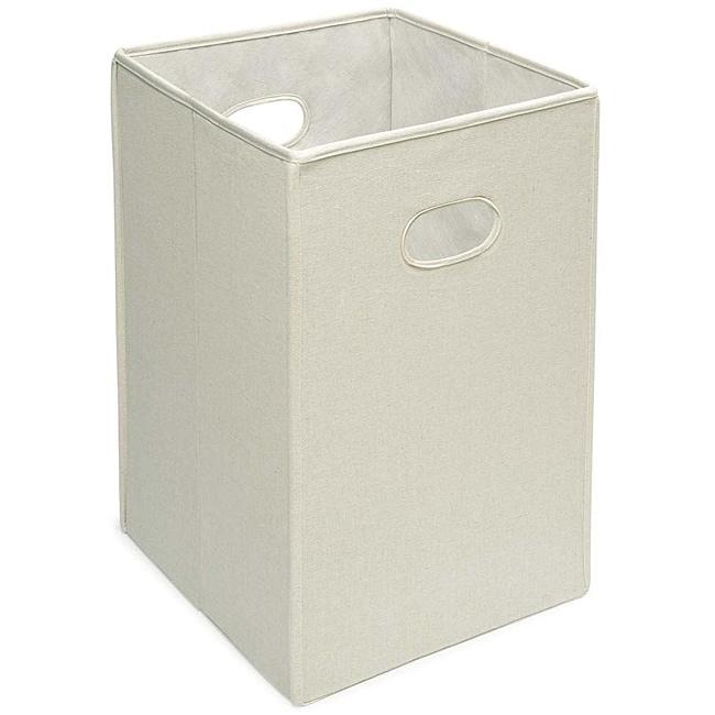 Badger Basket Ecru Folding Hamper and Storage Bin