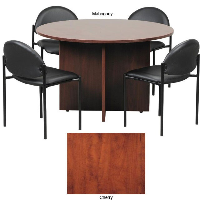 boss 42 inch conference table and stackable chair set