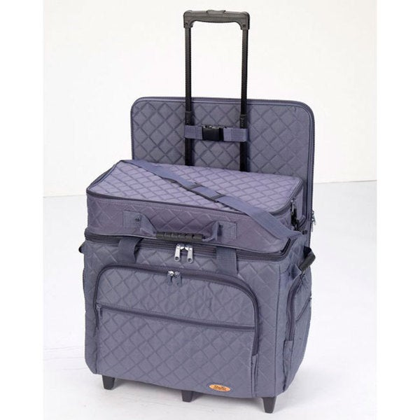 Hemline Extra Large Slate Blue 3-bag Trolley/ Quilting Set