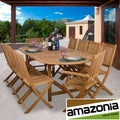 Toulon Deluxe 11-piece Teak Dining Set