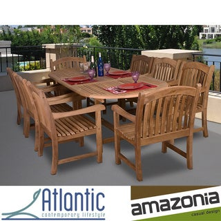 Cannes Deluxe 9-piece Teak Dining Set