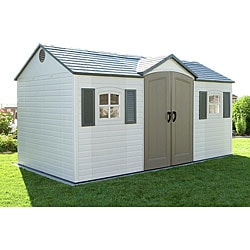 Lifetime 15-by-8 Foot Outdoor Storage Shed