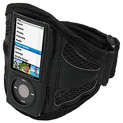 Black Airmesh Armband for iPod Gen 5 Nano