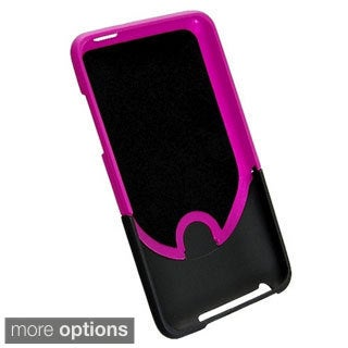 INSTEN Snap-on Rubber-coated Plastic Phone Case Cover for Apple iTouch Gen 2G/ 3G